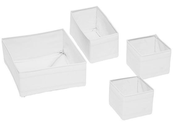 Sada Úložných Boxů Tina - bílá, textil (28/28/13cm) - Mömax modern living