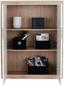 Komoda Highboard Malta - bílá/barvy dubu, Moderní, dřevo (96/132/35cm)