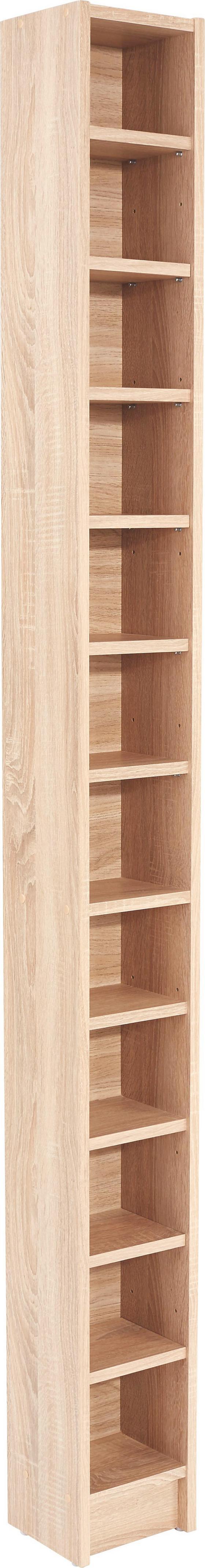 Cd-regal Felix - Sonoma Eiche, MODERN, Holzwerkstoff (20/202,3/17cm)