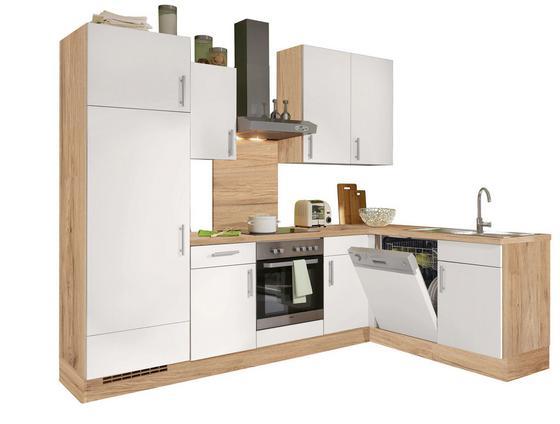 Eckküche Santiago 275x175cm Weiß/eiche - Eichefarben/Weiß, LIFESTYLE, Holzwerkstoff (275/175cm) - Vertico