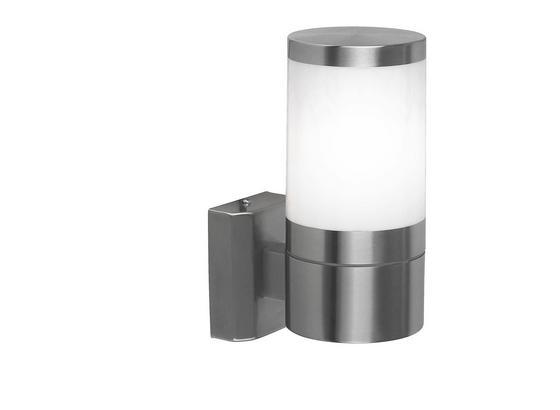 Außenleuchte Xeloo 60 Watt Edelstahl, Wandmontage - KONVENTIONELL, Kunststoff/Metall (10/15,5/24cm)