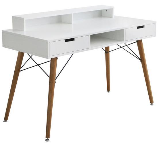 Schreibtisch Milano - Weiß/Kieferfarben, MODERN, Holz/Holzwerkstoff (120/84/55cm)