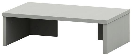 Nástavec Na Psací Stůl Moni - barvy hliníku, Moderní, dřevěný materiál (50/14,5/30cm)