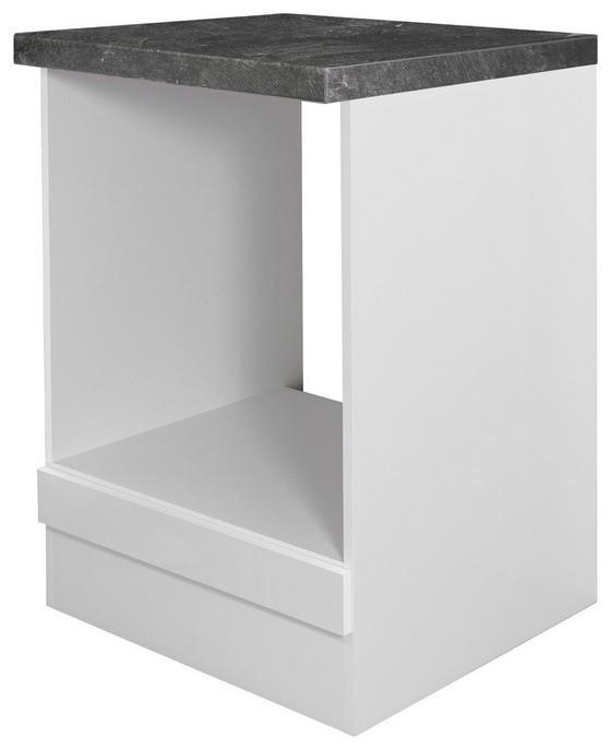 Skříňka Na Sporák Alba  Hu 60 - bílá, Moderní, dřevěný materiál (60/86/57cm)