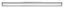 LED-Paneel Salobrena 2 - Alufarben/Weiß, MODERN, Kunststoff/Metall (119,5/10/4,5cm)
