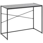 Schreibtisch B 100cm H 75cm Seaford, Esche Schwaraz Dekor - Eschefarben/Schwarz, MODERN, Holzwerkstoff/Metall (100/45/75cm) - Xora