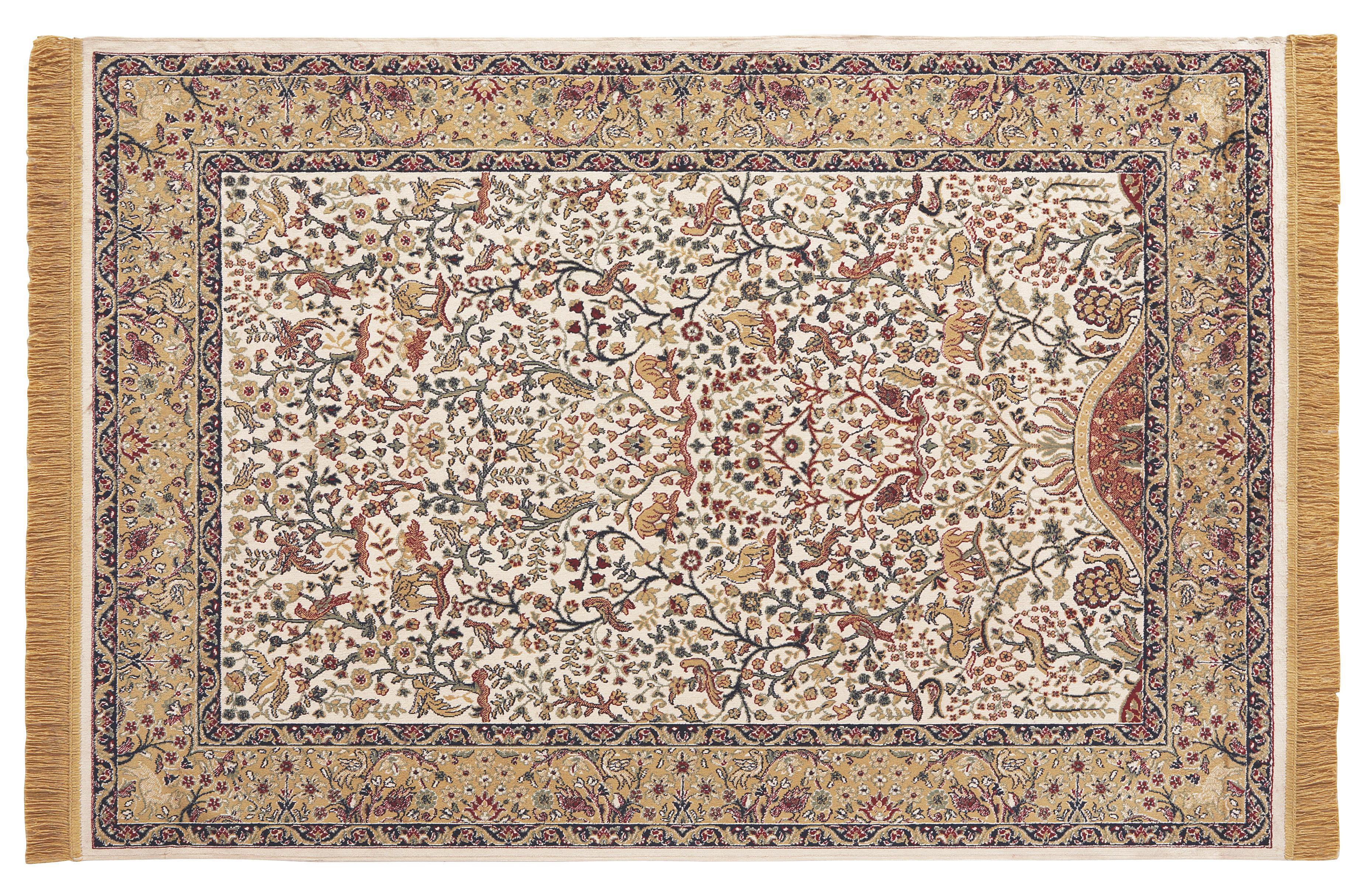 Szőnyeg Isphahan - natúr színek, konvencionális, textil (120/170cm)