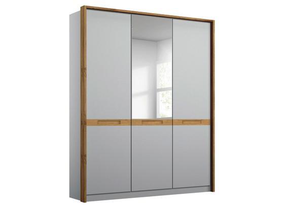 Drehtürenschrank Rangun B: 136 cm Grau - Grau, Basics, Holz/Holzwerkstoff (136/197/55cm)