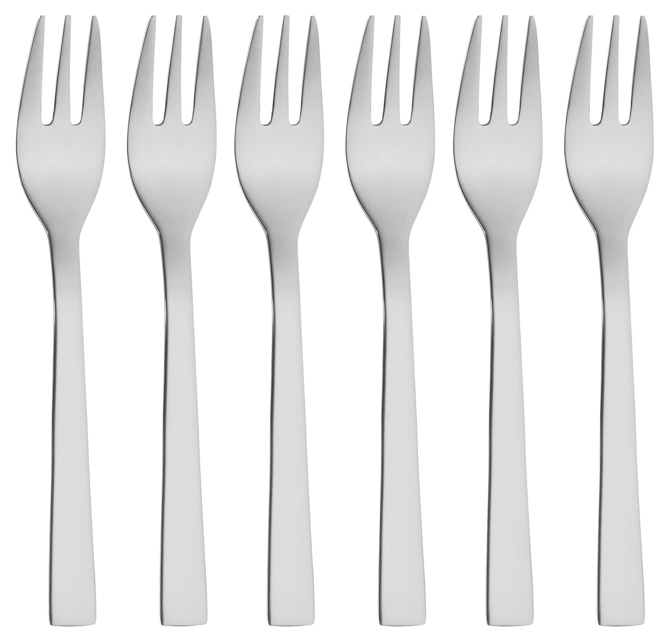 Vidlička Na Dezert Britt   6 Ks - barvy nerez oceli, Konvenční, kov - MÖMAX modern living