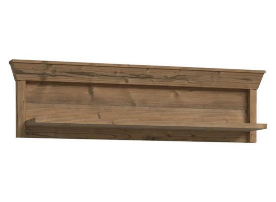 Regálový Diel Nepal - farby smreku, Konvenčný, kov/kompozitné drevo (123/34/24cm)