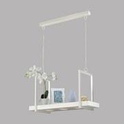 Led Hängeleuchte Calamona H: 110 cm mit Fernbedienung - Weiß, MODERN, Kunststoff/Metall (77/24,5/110cm)