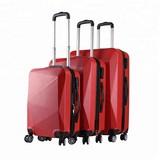 Reisekoffer Set 3-Tlg. 8 Rollen Hartschale - Rot, Basics, Kunststoff (49/76/29cm)