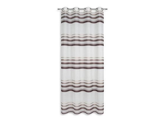 Ösenvorhang Ivola - Braun, MODERN, Textil (140/245cm) - Luca Bessoni