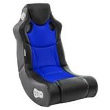 Gamingstuhl Booster B: 56 cm Schwarz/Blau - Blau/Schwarz, Design, Textil (56/100/82cm) - MID.YOU