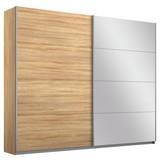 Schwebetürenschrank Belluno B:226cm Eiche Dekor/spiegel - Sonoma Eiche, MODERN, Holzwerkstoff (226/230/62cm)