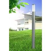 Led Außenleuchte Boston 9 Watt Edelstahl - Edelstahlfarben/Opal, Basics, Kunststoff/Metall (13,1/110cm)