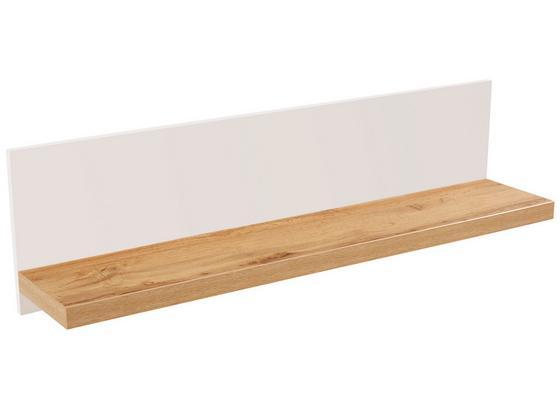 Nástenná Polica Eleganza - farby dubu, Moderný, kompozitné drevo (135/30/21.6cm)