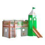 Spielbett Alex 90x200 cm Buche - Naturfarben/Orange, Design, Holz/Textil (90/200cm)
