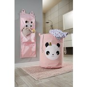 Wäschekorb Panda - Pink/Schwarz, Basics, Textil (35/48cm) - Luca Bessoni