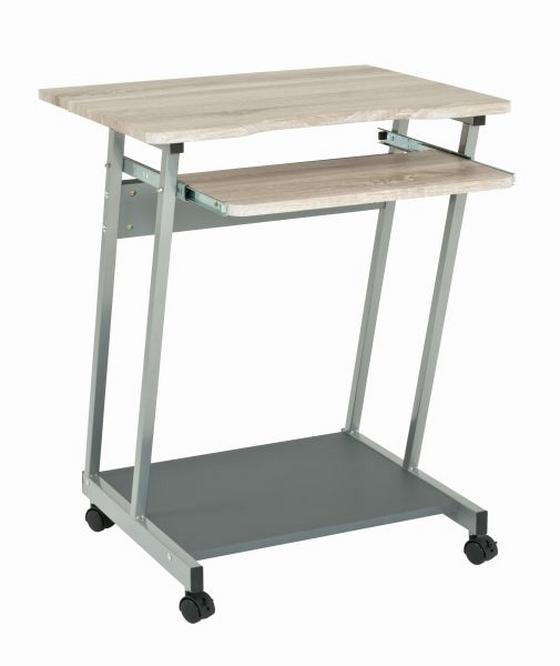 Számítógépasztal Print - Tölgyfa, modern, Műanyag/Fém (60/75/48cm)