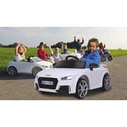Kinderauto Ride-On Audi Tt Rs Weiß - Silberfarben/Schwarz, Basics, Kunststoff (102/63/41,5cm)