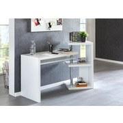 Schreibtisch Marcie B: ca. 145 cm Weiß - Weiß, MODERN, Holzwerkstoff (145/94/50cm) - MID.YOU