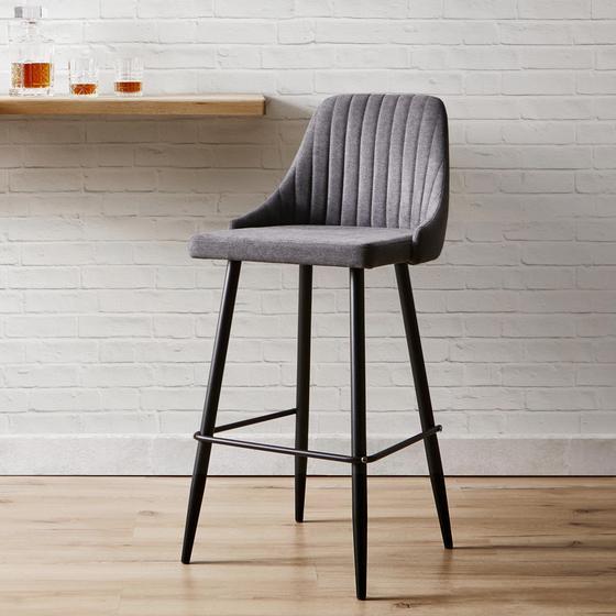 Barová Židle Seko - černá/tmavě šedá, Moderní, kov/dřevo (50/105/55cm) - Mömax modern living