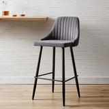 Barová Židle Seko - černá/tmavě šedá, Moderní, kov/textil (50/105/55cm) - Mömax modern living