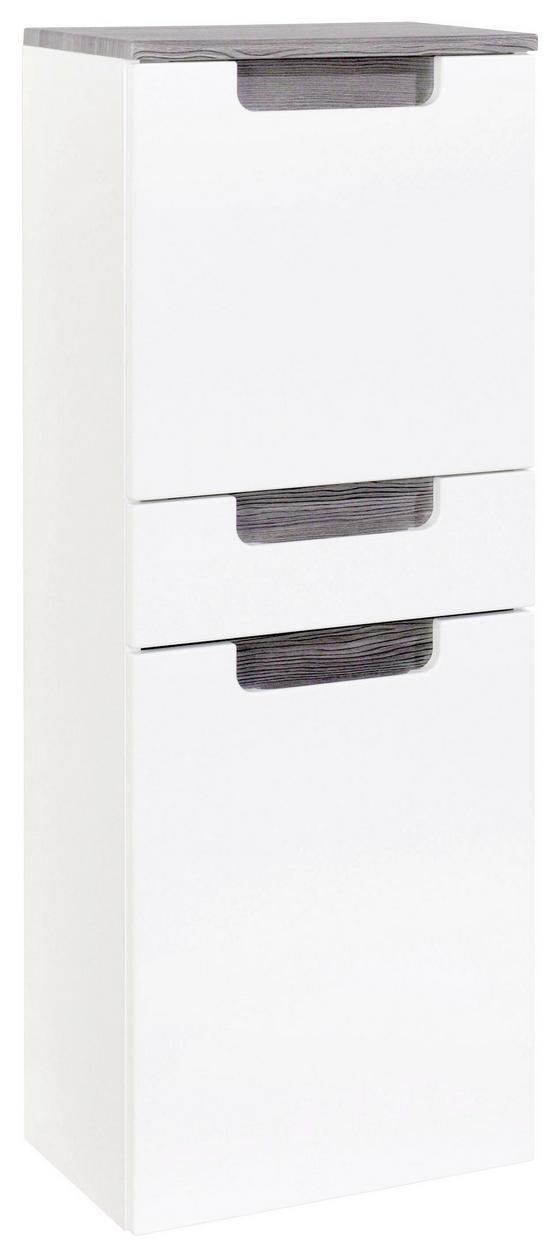 Midischrank Siena 40cm Weiß/eiche - Eichefarben/Weiß, MODERN, Holzwerkstoff (40/105/27cm)