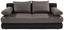 Kanapéágy Clipso - Világosszürke/Fekete, modern, Textil (212/93/90cm) - Ombra