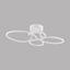 LED-Deckenleuchte Harmonie - Weiß, MODERN, Kunststoff/Metall (65/45/15cm)