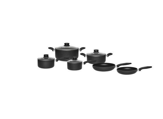 Sada Hrnců Na Vaření Marco, 10-dílná Sada - černá/čiré, Konvenční, kov/umělá hmota - Mömax modern living