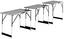 Multifunktionstisch Darius - Schwarz/Grau, Kunststoff/Metall (60/100cm) - Homezone