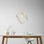 Závesná Lampa Squere - bronzová, Romantický / Vidiecky, kov (30/30/45cm) - Modern Living