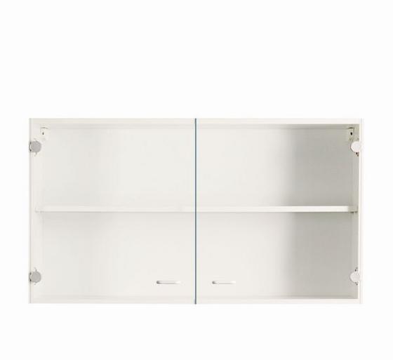Üveges Felsőszekrény Speed - Fehér, modern, Faalapú anyag (100/54/32cm)