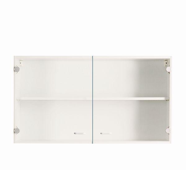 Üveges Felsőszekrény Speed - fehér, modern, faanyagok (100/54/32cm)