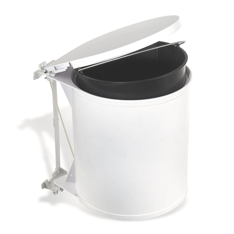 Abfalleimer Rund - Weiß, Basics, Kunststoff (32/31/27cm)