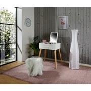 Schminktisch Stockholm 60cm Weiß - Naturfarben/Weiß, MODERN, Glas/Holz (60/75/40cm) - MID.YOU