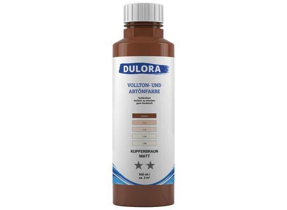 Abtönfarbe 500ml Kupferbraun Matt - Kupferfarben, Kunststoff (0,500l) - Dulora