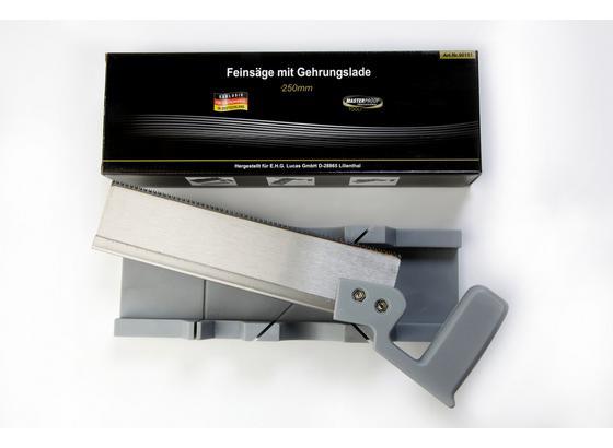 Säge mit Gehrungslade - Silberfarben, KONVENTIONELL, Kunststoff/Metall (25cm)