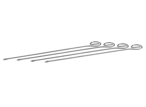 Spieße 4 Stk - Silberfarben, KONVENTIONELL, Metall (22cm) - Homeware