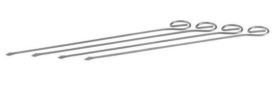 Spieße 4 Stk - Silberfarben, KONVENTIONELL, Metall (22cm)
