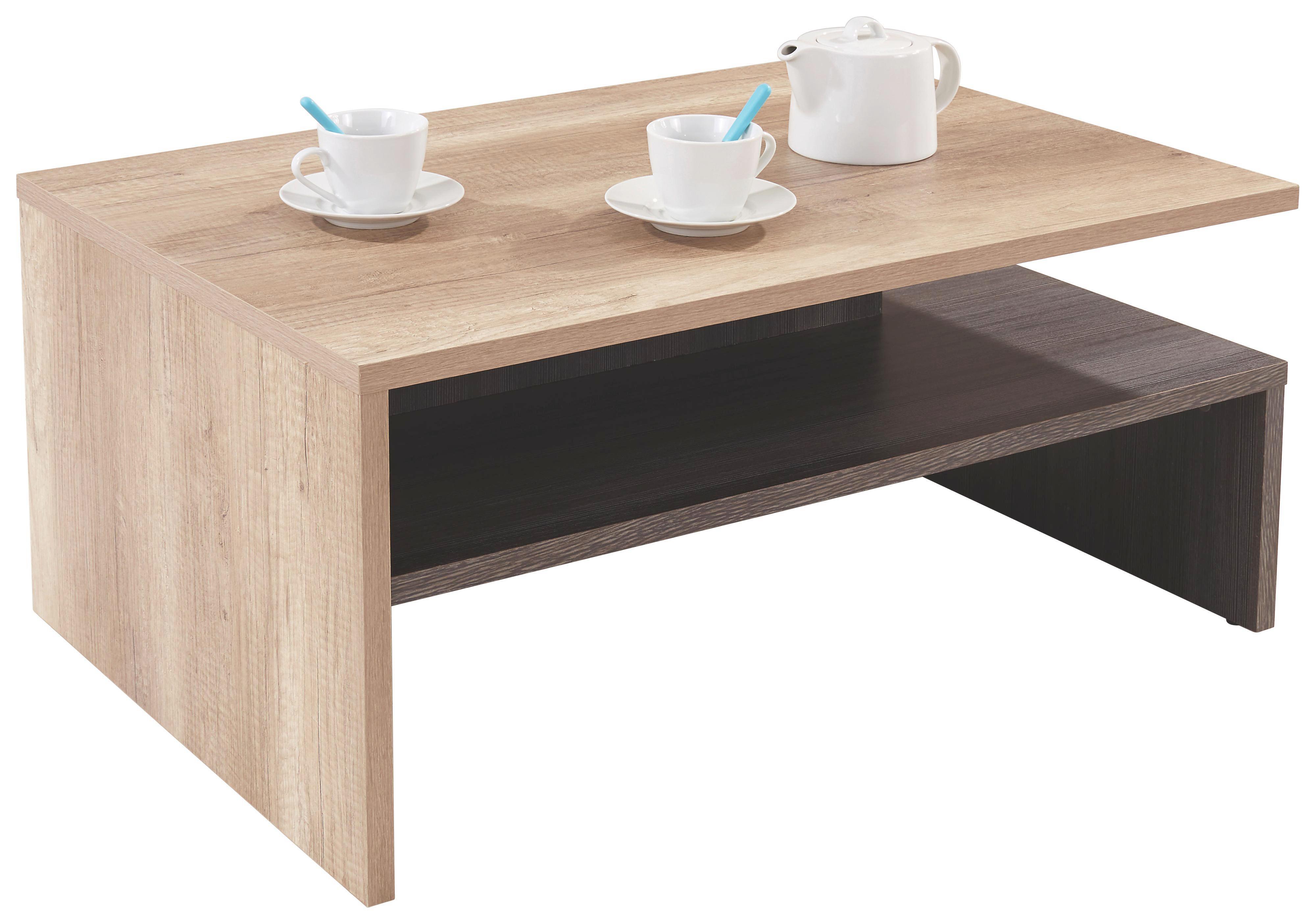 Konferenční Stolek Laura - barvy dubu, Moderní, dřevěný materiál (90/42/60cm)