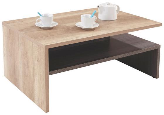 Konferenčný Stolík Laura - farby dubu, Moderný, drevený materiál (90/42/60cm)