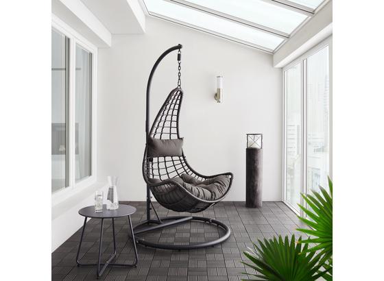 Závesné Kreslo Caitlin - tmavosivá, umelá hmota/kov (110/198/105cm) - Modern Living