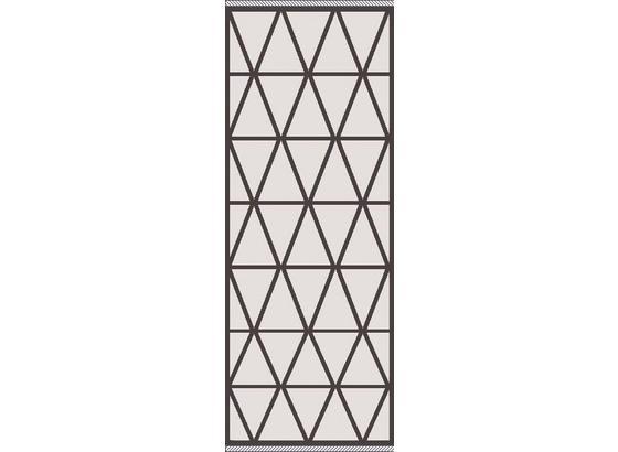 Hladko Tkaný Koberec Phoenix 2 - antracitová/strieborná, Moderný, textil (80/200cm) - Modern Living