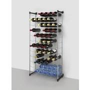 Flaschenregal Bardolino 72 Flaschen - Silberfarben, MODERN, Metall (58/26/123cm)