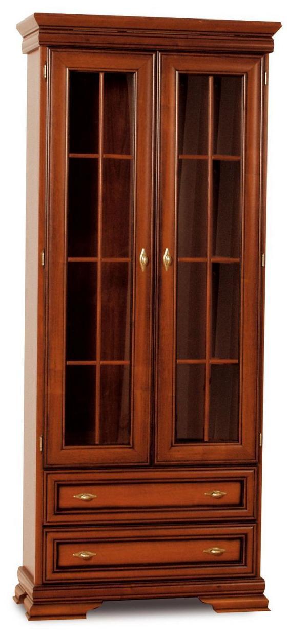 Vitrin Aramis Arv 80 - diófa színű, konvencionális, műanyag/üveg (84,2/197,7/36,8cm)
