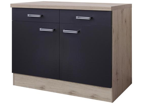 Kuchyňská Spodní Skříňka Milano - barvy dubu/antracitová, Moderní, kompozitní dřevo (100/86/60cm)
