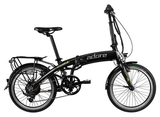Elektrofahrrad Faltrad 20' Pedelec Adore Cologne - Schwarz, MODERN, Metall